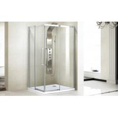 ADMIRAL R14 Chrom Luxusná sprchová zástena obdĺžniková 100 × 80 cm , sklo 8 mm