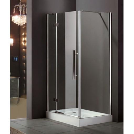 Better R13 CHRÓM Sprchovací kút, číre sklo 8 mm, 100 × 80 × 195 cm