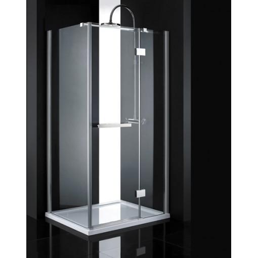 CRYSTAL R13 CHRÓM Sprchová zástena číre sklo 8 mm 100 × 80 × 200 cm