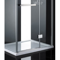 CRYSTAL R23 CHRÓM Sprchová zástena číre sklo 8 mm 120 × 80 × 200 cm