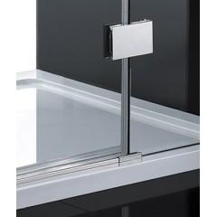 CRYSTAL R53 CHRÓM Sprchová zástena číre sklo 8 mm 140 × 90 × 200 cm
