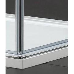 GLASS A4 90 cm CHRÓM Sprchová zástena 90 × 90 × 195 cm