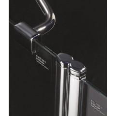 Glass B4 115 sprchové dvere do niky dvojkrídlové s pevnou stenou 110,5 – 115 cm