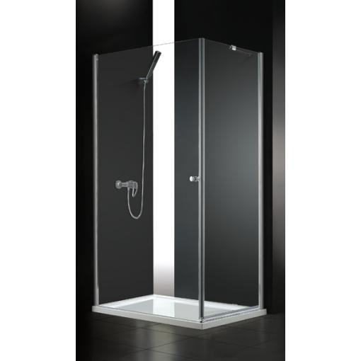 GLASS R10 100 × 80 cm CHRÓM Sprchová zástena