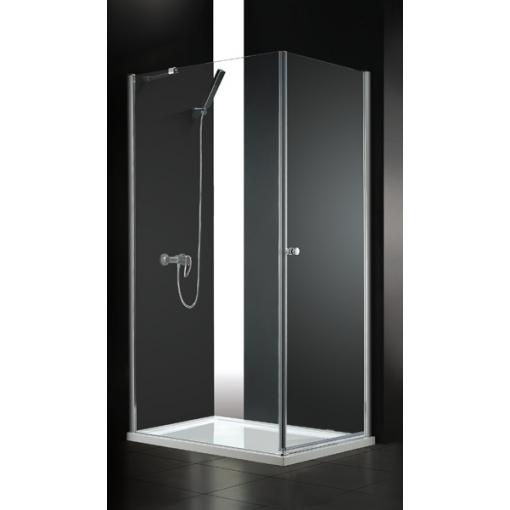 GLASS R11 100 × 80 cm CHRÓM Sprchová zástena