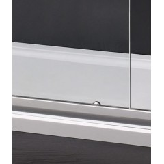 MASTER R33 Chróm Sprchová zástena obdĺžniková 120 × 90 cm