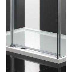NOBEL R13 CHRÓM LUXUSNÁ SPRCHOVÁ ZÁSTENA OBDĹŽNIKOVÁ 100 × 80 cm, SKLO 8 mm