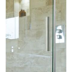 NOBEL R33 Chróm Luxusná sprchová zástena obdĺžniková 120 × 90 cm, sklo 8 mm
