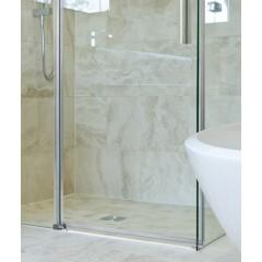 NOBEL R53 Chróm Luxusná sprchová zástena obdĺžniková 140 × 90 cm, sklo 8 mm