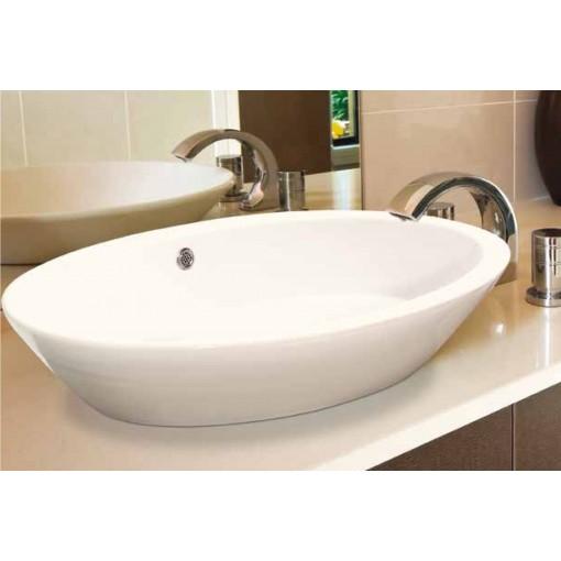OVAL 2 keramické umývadlo 70 × 40,5 × 17 cm