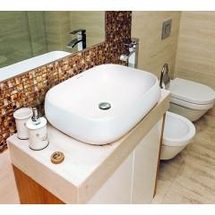 KENZO umývadlo so zaoblenými rohmi 56,5 × 43 × 15 cm