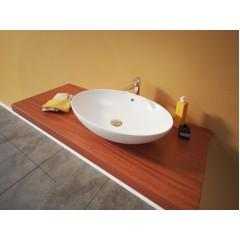 MARS oválne keramické umývadlo 63 × 15 × 41,5 cm