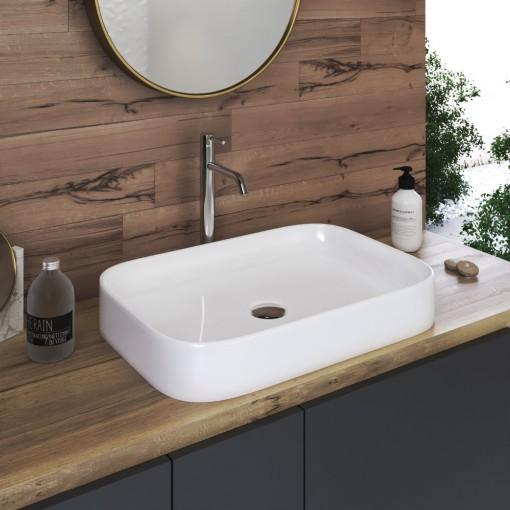 NEXT 55 keramické umývadlo 55x38x11cm