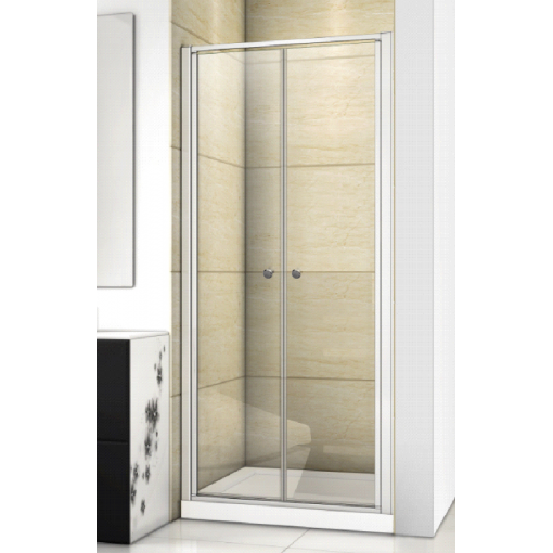 Family B02 CHRÓM Sprchové dvere do niky dvojkrídlové, 87 – 91 × 190 cm