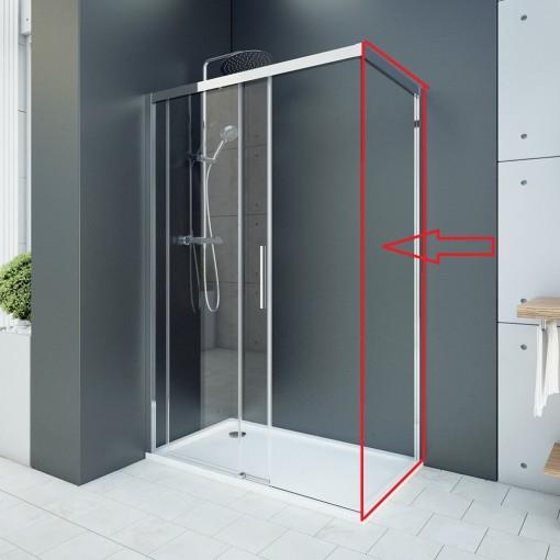 WELLNESS F1 90 - pevná boční stěna do kombinácie s dverami, 87-89cm, sklo 6mm