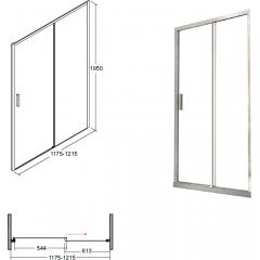 ACTIS sprchové dveře 120x195cm