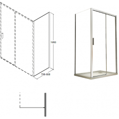 ACTIS bočný panel 80x195 cm