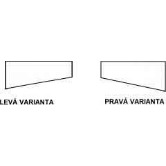Asymetrická vaňa INTIMA SLIM 150 × 85 cm