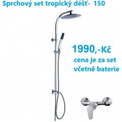 Sprchová súprava s tropickým dažďom STILOVAL vrátane batérie s rozstupom 150