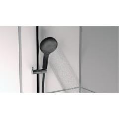 Ručná masážna sprcha 3 režimy sprchovanie, priemer 130mm, čierna / chróm SAMOA RAIN (60956)