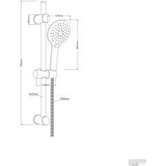 Sprchová súprava bez batérie RAVEN, čierna matná (64916)
