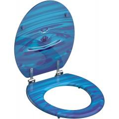 WC sedadlo Blue drop MDF so spomaľovacím mechanizmom SOFT-CLOSE