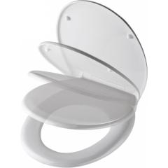 WC sedadlo Grey Steel so spomaľovacím mechanizmom SOFT-CLOSE