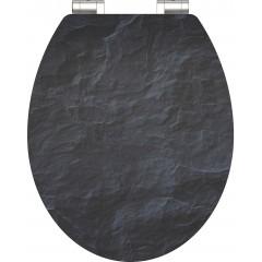 WC sedadlo Black Stone MDF HG so spomaľovacím mechanizmom SOFT-CLOSE