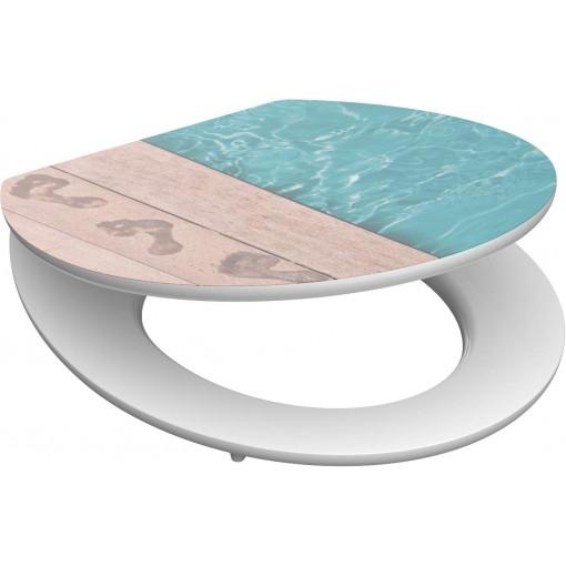 WC sedadlo Poolside MDF HG so spomaľovacím mechanizmom SOFT-CLOSE