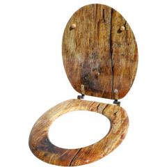 WC sedadlo Solid Wood so spomaľovacím mechanizmom SOFT-CLOSE