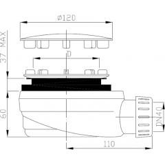 Sifón sprchový 90 ZNÍŽENÝ v. 63 mm antikoro DN40, nízky EWNN940 (EWNN940)