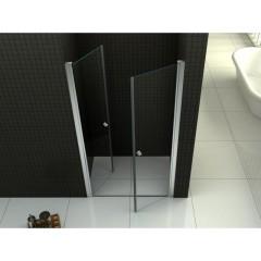 Sprchové dvere PURE D2 80 dvojkrídlové 76-81 x 190 cm