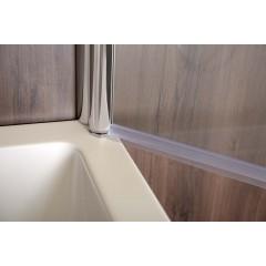Vaňová zástena PURE V1 65x140cm - jednodielna, číre sklo