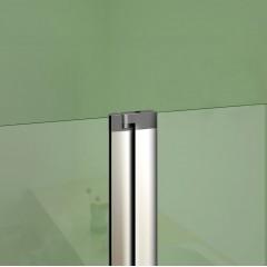 Vaňová zástena s pevnou stenou V2 120 cm, číre sklo