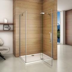 Obdĺžnikový sprchovací kút AIRLINE 100 × 90 cm s jednokrídlovými dverami s pevnou stenou