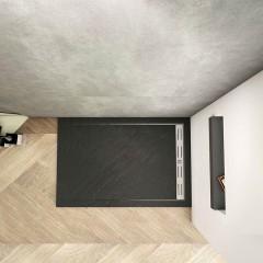 BLACK STAR sprchová vanička z liateho mramoru, obdĺžnik, 120x80x3 cm
