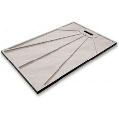 BLACK STAR sprchová vanička z liateho mramoru, obdĺžnik, 120 × 90 × 3 cm