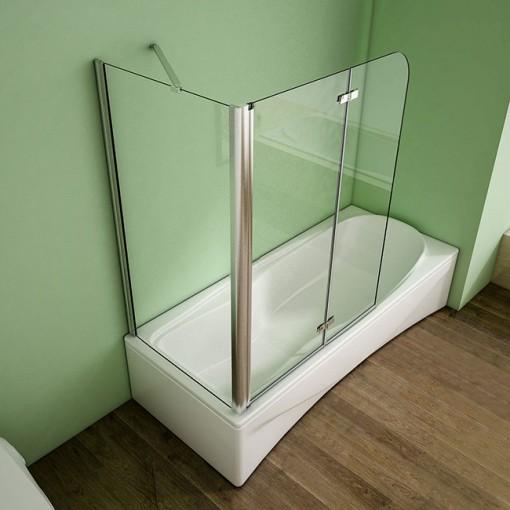 Pevná bočná stena V75, 73 – 75x140 cm, 6 mm sklo, k vaňovým zástenám S22 a S33