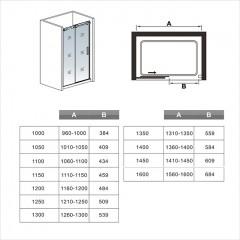 Posuvné sprchové dvere DIAMOND 141 – 145 × 195 cm L/P variant