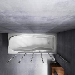 Vaňová zástena päťdielna V5 120, chróm, číre sklo