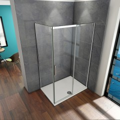 Obdĺžnikový sprchovací kút HARMONY 120x100 cm, L/P variant