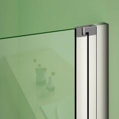 Sprchové dvere MELODY D2 140 dvojkrídlové 136 – 140 × 195 cm, číre sklo