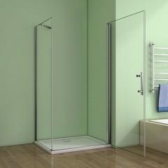 Štvorcový sprchovací kút MELODY A1 90 cm s jednokrídlovými dverami
