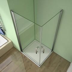 Sprchovací kút MELODY A4 90 cm s dvoma jednokrídlovými dverami