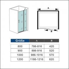 Sprchové dvere MELODY B5 90 jednokrídlové s pevnou stenou 89 – 92 × 195 cm