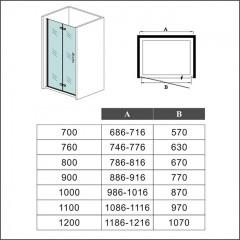 Zalamovacie dvere MELODY B8 109 – 112 × 195 cm