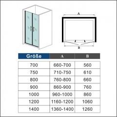 Sprchové dvere MELODY D2 80 dvojkrídlové 76 – 80 × 195 cm, číre sklo