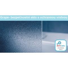 Sprchové dvere MELODY D2 100 dvojkrídlové 96 – 100 × 195 cm