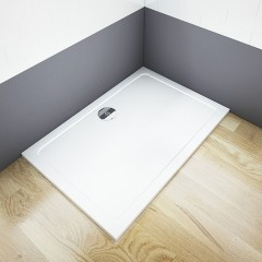 THOR Sprchová vanička z liateho mramoru, obdĺžnik, 120x80x3 cm