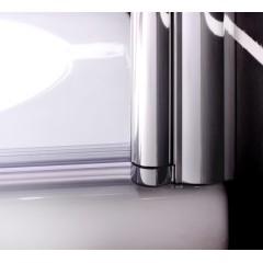 Vaňová zástena S1 STRIPE 80 × 140 cm – jednodielna sklopná, číre sklo so vzorom